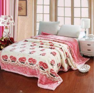 100% Polyester Raschel Blanket pictures & photos