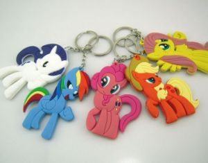 Custom Soft PVC Rubber Keychain Silicone Keyring pictures & photos