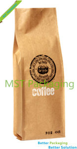 Kraft Paper Gusset Coffee Bag with Degassing Valve pictures & photos