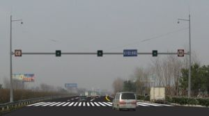 Traffic Monitor Pole Control Rod Steel Poles pictures & photos