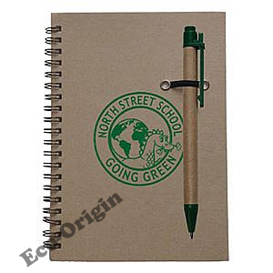 Eco-Aware Journal with Pen