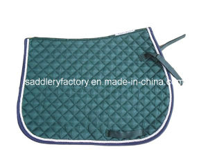 Equestrian Poly Cotton Green Horse Saddle Pad Saddlery (SMS3522) pictures & photos