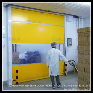 Warshop Made in China Hgih Speed Rolling Automatic Door