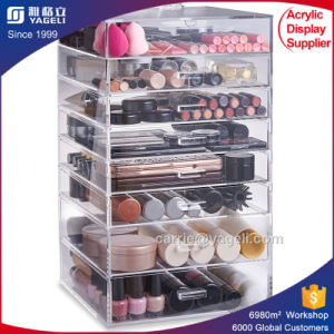 2018 Fashionable Acrylic Makeup Organizer with Custom Drawers pictures & photos