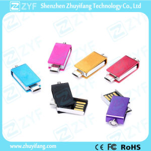 Super Mini Multicolor Metal Swivel 16GB OTG USB (ZYF1607)
