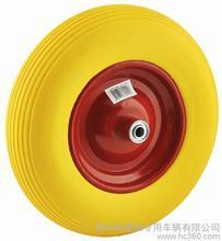 4.00-8 PU Wheel with Yellow Color