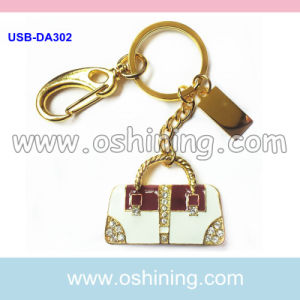 Handbag Design USB Keychain with Diamond (USB-DA302) pictures & photos