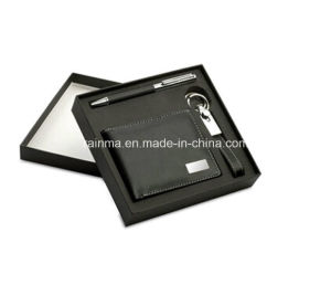 Business Promotional Gift Set with Key Chain and Wallet pictures & photos