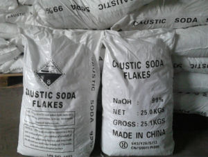 China Low Price Caustic Soda Flakes for Food Grade 98%99% pictures & photos