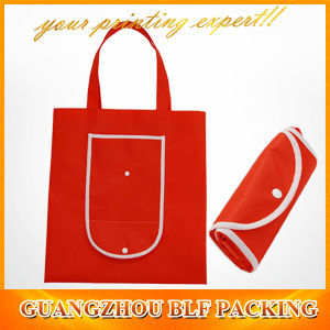 Plastic Button Non Woven Foldable Reuseable Shopping Bag pictures & photos
