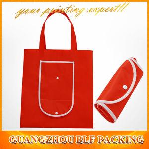 Plastic Button Non Woven Foldable Reuseable Shopping Bag pictures & photos