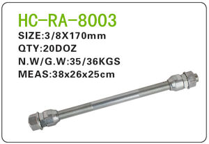 Bicycle Parts Steel Axle (RA-8003) pictures & photos