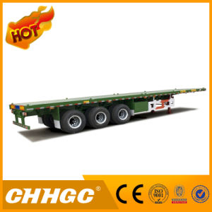 New 3axle 40FT Flatbed Container Semi Trailer pictures & photos