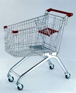 90L Shopping Trolley, Foldable Shopping Trolley
