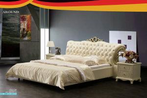 Modern Design Leather Bed, Bedroom Furniture, Bed (J322) pictures & photos
