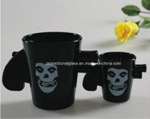 Black Pigment Gun Shot Glass, 50ml, 180ml
