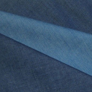 Basic 100% Cotton Indigo Color Denim Fabric for Pants pictures & photos