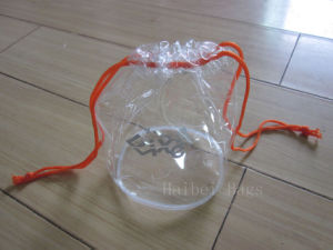 PVC Clothes and Underwear Plastic Bag, PVC Cosmetic Packing Bag with a Hook / Hanger and Button (hbpv-66) (hbpv-66) pictures & photos