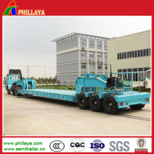 Muti-Axles Low Bed Beam Concave Construction Machine Trailer pictures & photos