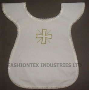 High Quality White Cotton Wholesale Children Baptismal Dress pictures & photos