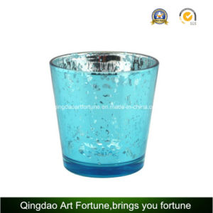 Electroplating Mercury Glass Candle Holder for Christmas Decoration pictures & photos