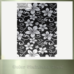 Steel Products Mirror Flower Printing Color Stainless Steel Plate pictures & photos