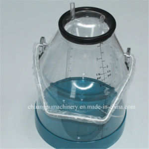 Plastic Transparent Cow Milking Buckets with Calibration pictures & photos