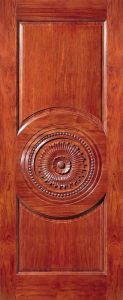 Modern Solid Wooden Wood Door Fancy Door Carving Designs pictures & photos
