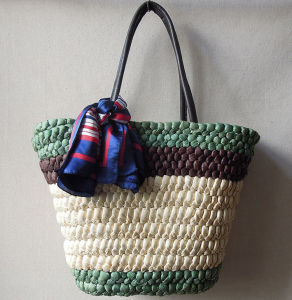Factory Supply Different Color Natural Straw Fashion Beach Straw Bags Handbags pictures & photos