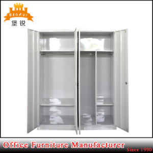 Powder Coated Metal Home Furniture Bedroom Cabinet Steel Locker Wardrobe pictures & photos