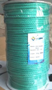 PE Braided Rope Green Colour pictures & photos