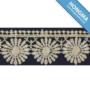 Floral Fashionable Chemical Decorative Lace Trim