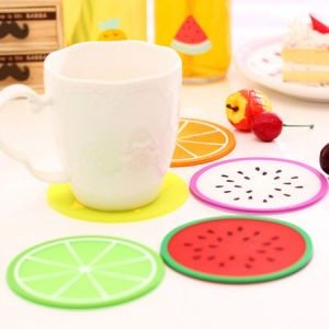 Fruit Design Cup Mat, Table Placemat Coaster, Silicon Mat pictures & photos
