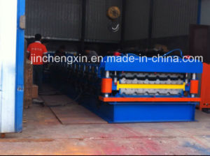 China Double Profile Corrugated Metal Roofing Sheet Cold Roll Forming Machine pictures & photos