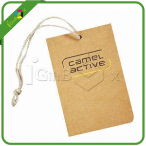 Custom Design Kraft Paper Swing Hang Tag Paper Label for Clothing pictures & photos