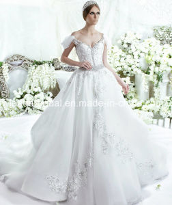 off Shoulder Lace Wedding Dress Fashion Vestidos Luxury Bridal Ball Gown LD11539 pictures & photos