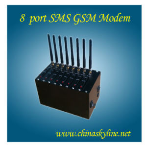 8 SIM Cards GSM GPRS Modem Pool, Wireless Wavecom Module for Bulk SMS. MMS Q2406