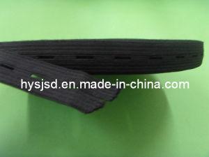 Black Elastic Latex Webbing for Garment pictures & photos