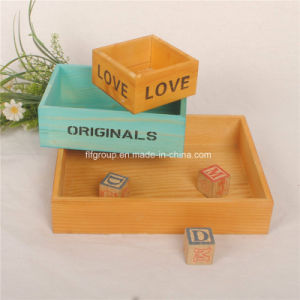 Durable Natural Wooden Gift Box Wine Box with Customized Size pictures & photos