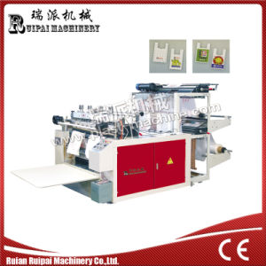 Double Lines Heat Sealing Heat Cutting Plastic Shopping Bag Making Machine pictures & photos