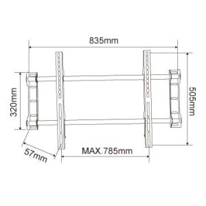 """Bracket TV Wall Mount for 37""""-62"""" LCD LED 3D Plasma Tvs Super Strong 81.6kgs Weight Capacity pictures & photos"""