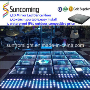 Chinese Innovative 3D Mirror Time Tunnel LED Dance Floor pictures & photos