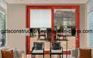 High Quality Aluminum Sliding Door with Build-in Blind pictures & photos
