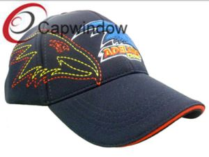 Black Flat and 3D Embroidered Fashion Leisure Sport Baseball Cap pictures & photos