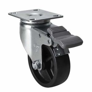 "Edl Light 3"" 70kg Plate Brake Po Caster 3623-03"