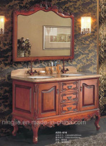 Classical Bathroom Solid Wood Bathroom Vanity (ADS-616) pictures & photos