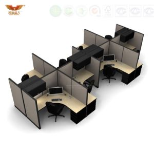 New Design Modern Straight 6 Seats Office Partition Workstation (HY-285)