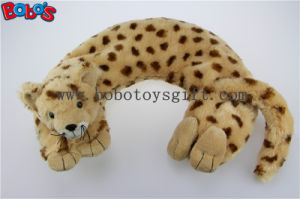 Home Products Plush Stuffed Lorpard Animal U Shape Microwave Heated Neck Pillows pictures & photos