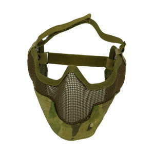 Airsoft Strike Steel Mesh Mask With Ear Cover