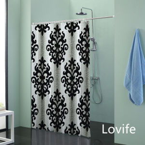 Shower Curtain Bathroom Waterproof Curtain (JG-235) pictures & photos